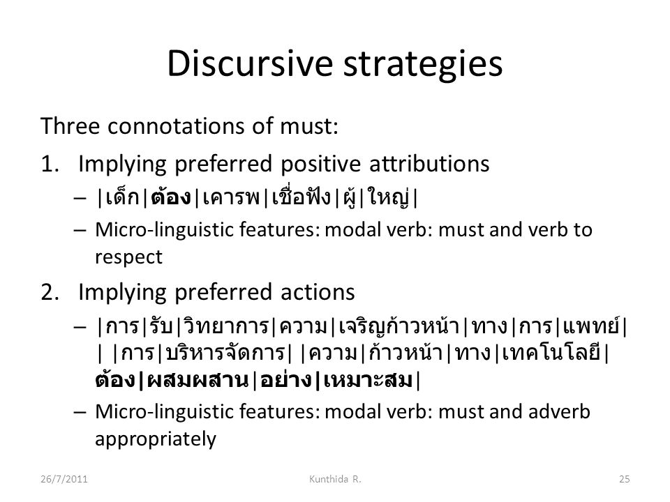 Discursive strategies