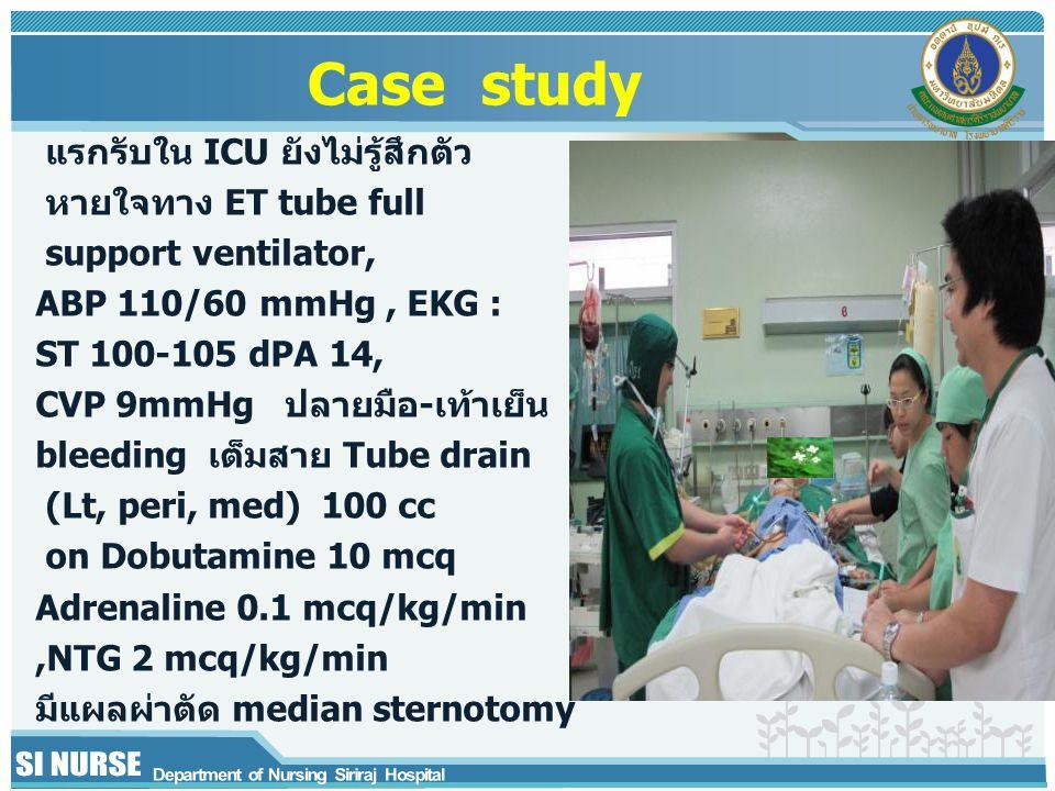 Case study แรกรับใน ICU ยังไม่รู้สึกตัว หายใจทาง ET tube full