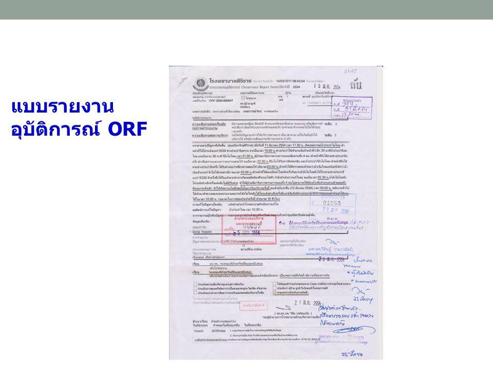 แบบรายงานอุบัติการณ์ ORF