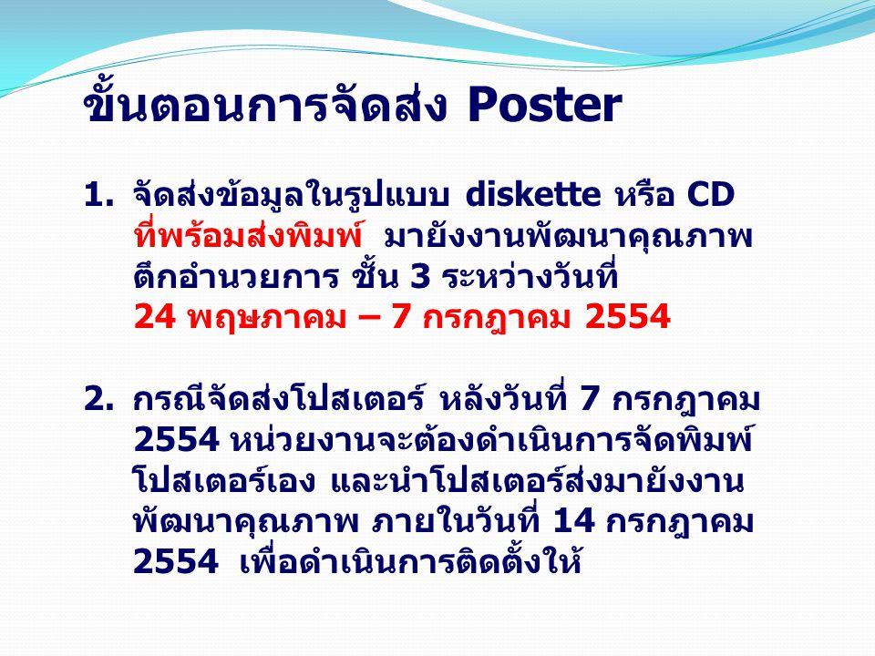 ขั้นตอนการจัดส่ง Poster
