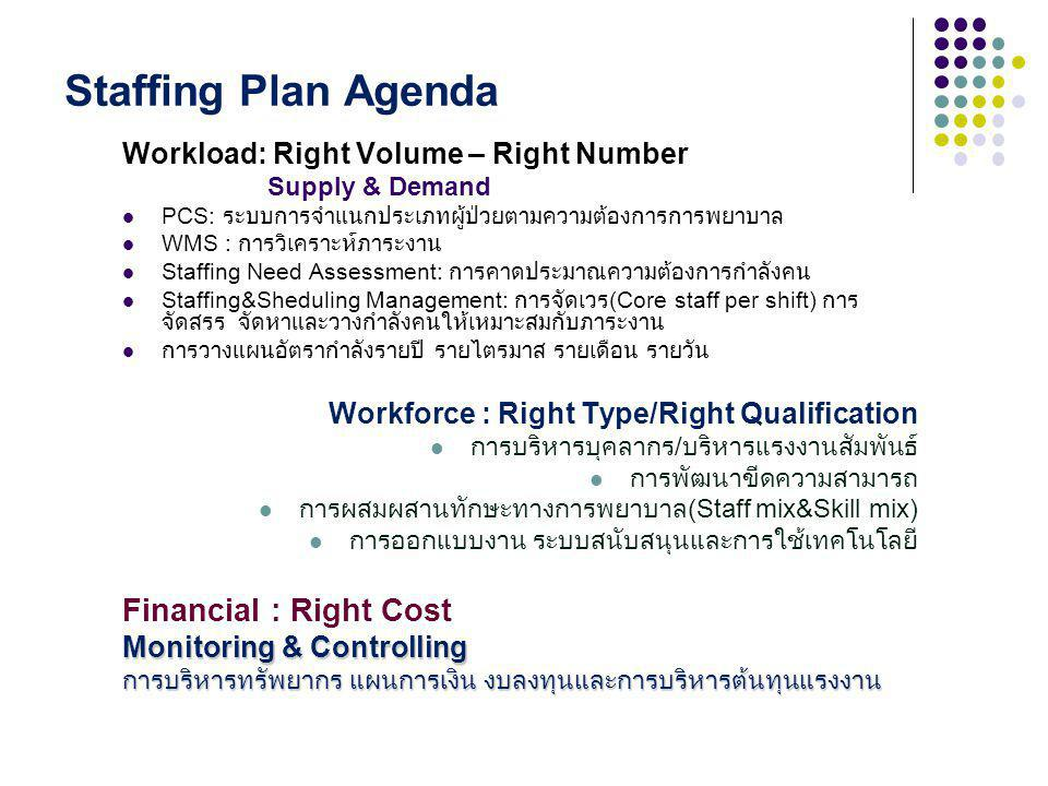 Staffing Plan Agenda Financial : Right Cost