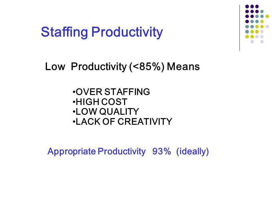 Staffing Productivity