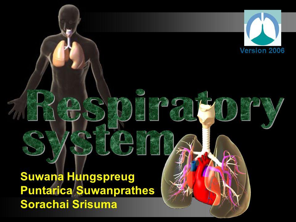 Respiratory system Suwana Hungspreug Puntarica Suwanprathes