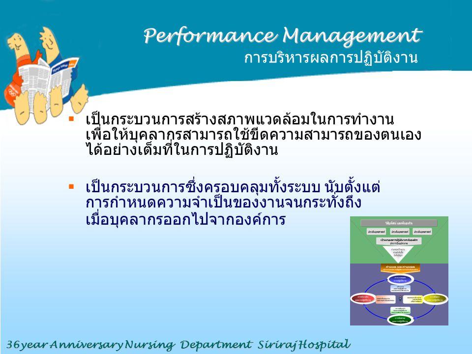 Performance Management การบริหารผลการปฏิบัติงาน