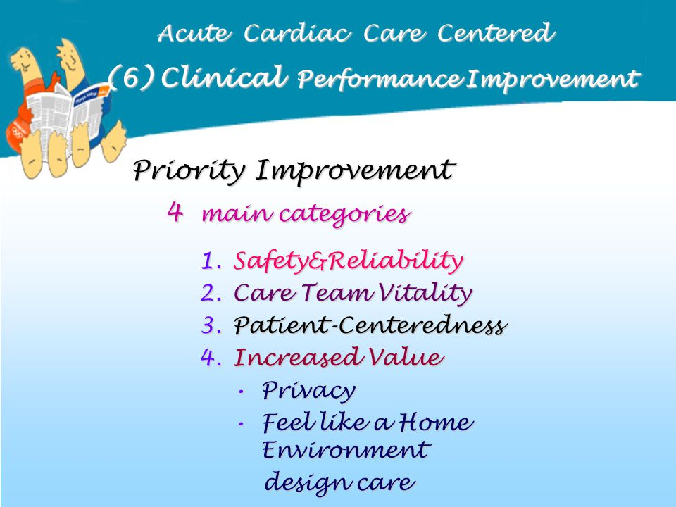 (6) Clinical Performance Improvement