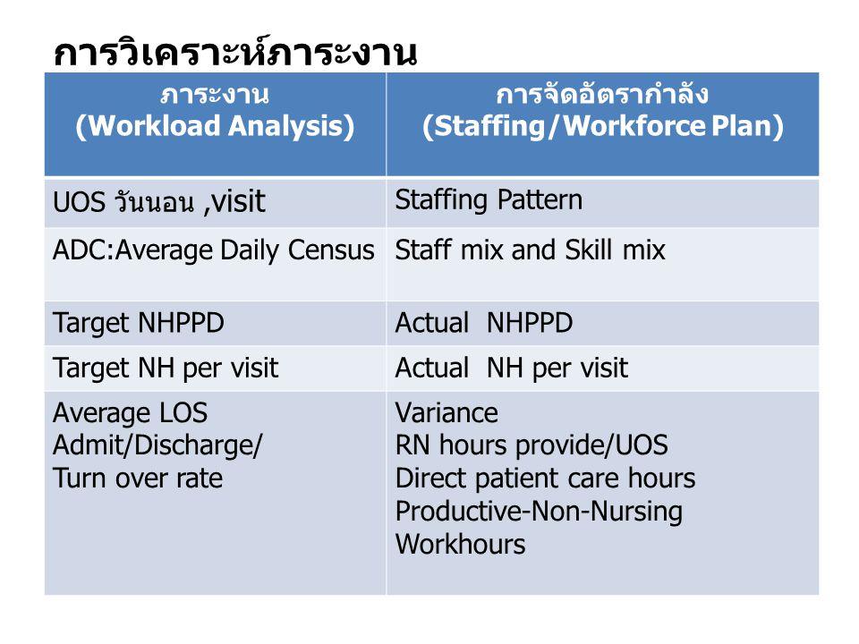 การจัดอัตรากำลัง(Staffing/Workforce Plan)