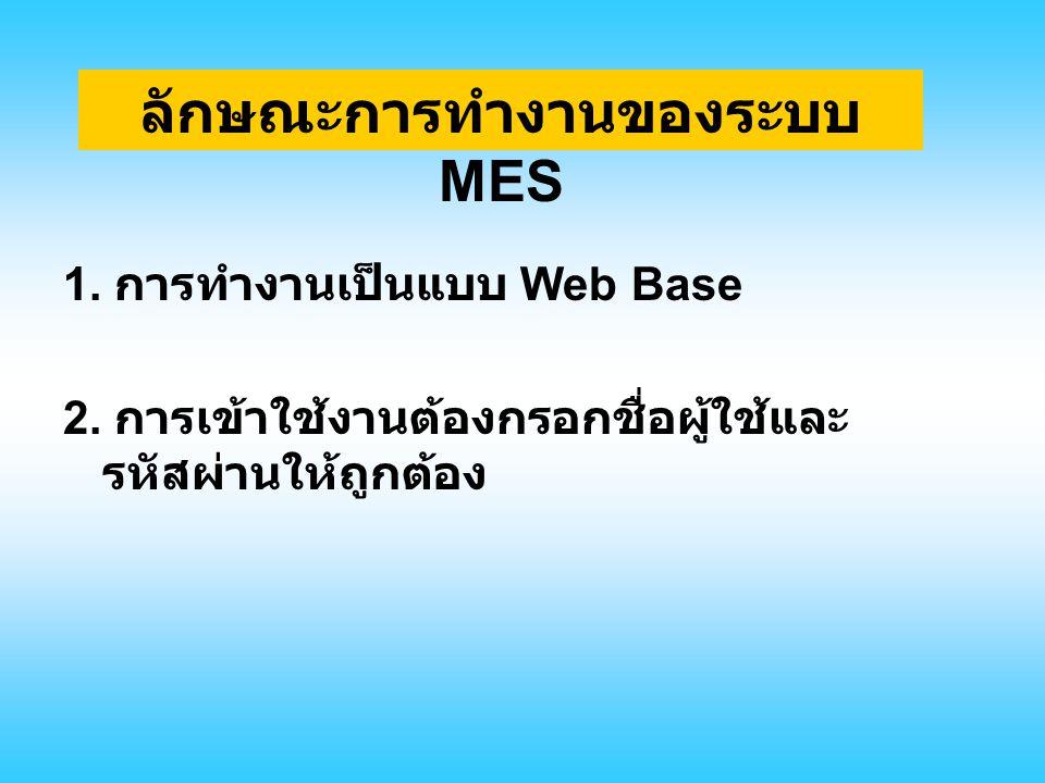 ลักษณะการทำงานของระบบ MES