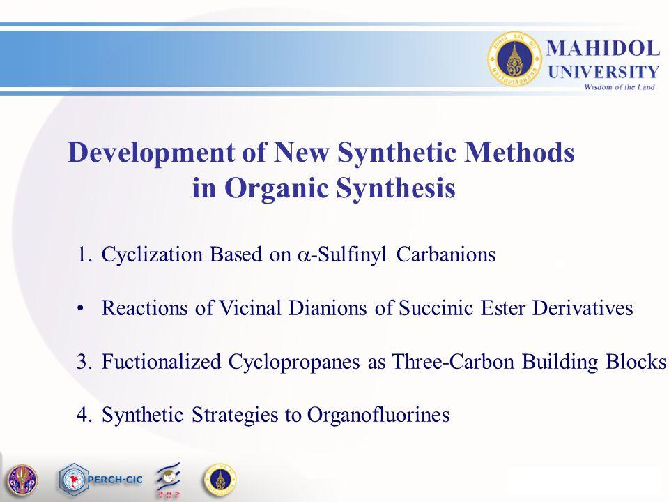 Development of New Synthetic Methods