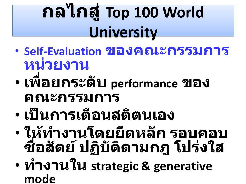 กลไกสู่ Top 100 World University