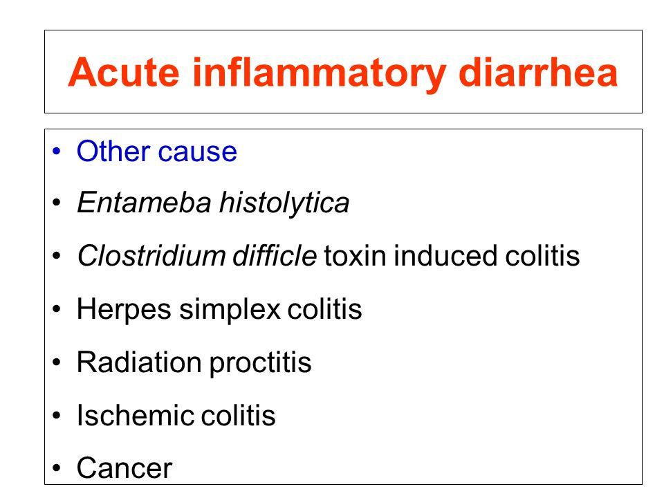 Acute inflammatory diarrhea