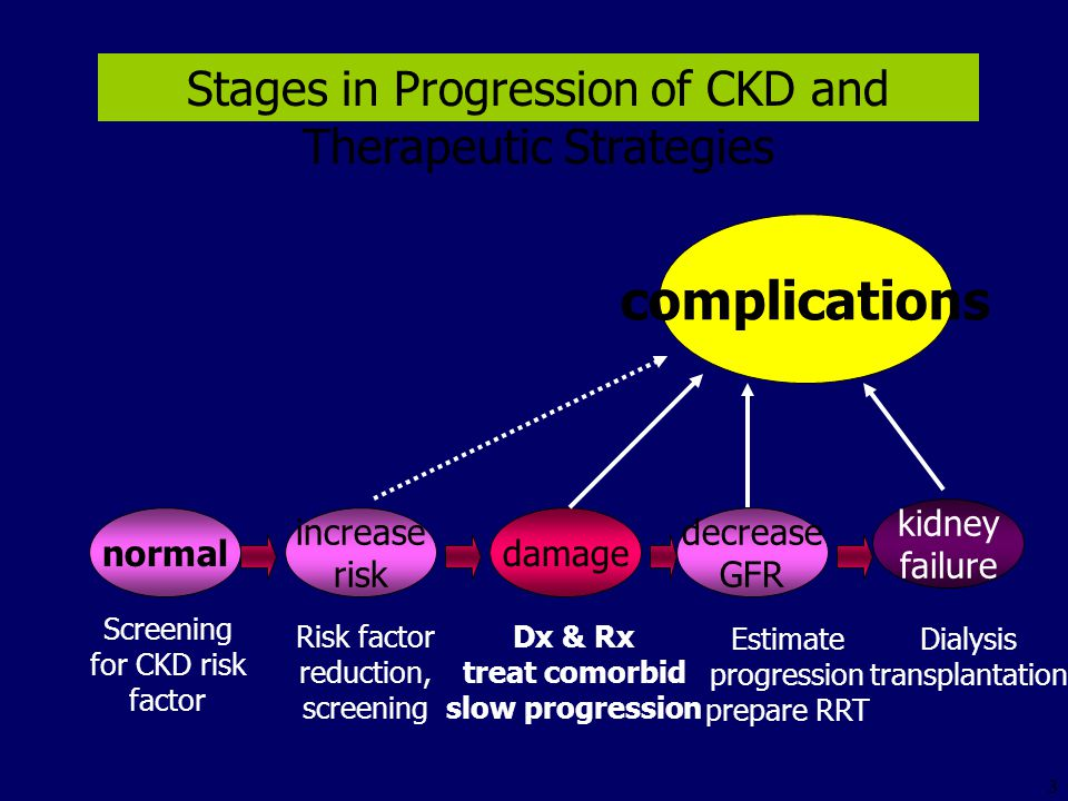 Stages in Progression of CKD and Therapeutic Strategies