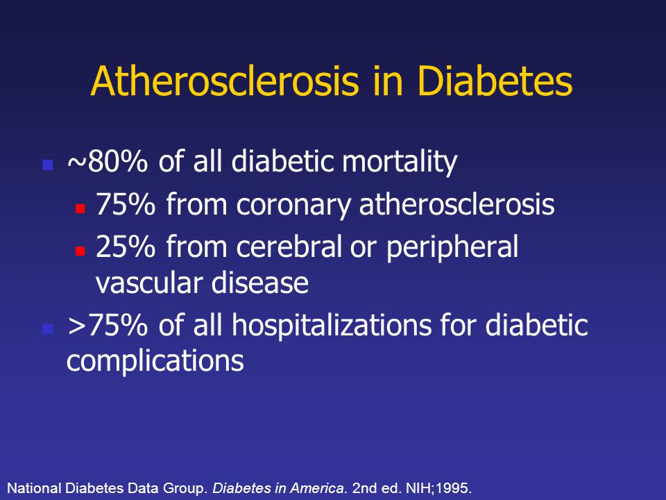 Atherosclerosis in Diabetes