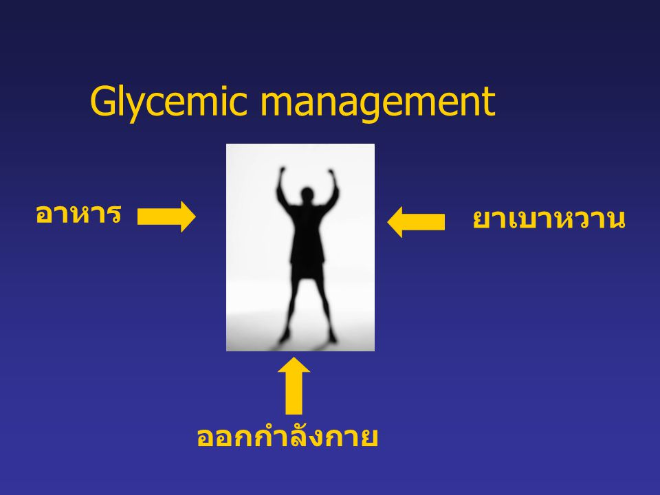 Glycemic management อาหาร ยาเบาหวาน ออกกำลังกาย
