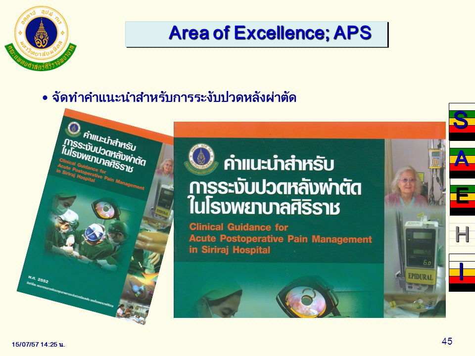Area of Excellence; APS