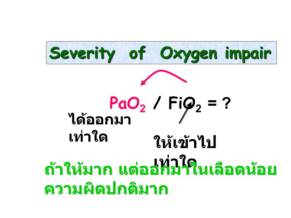 Severity of Oxygen impair