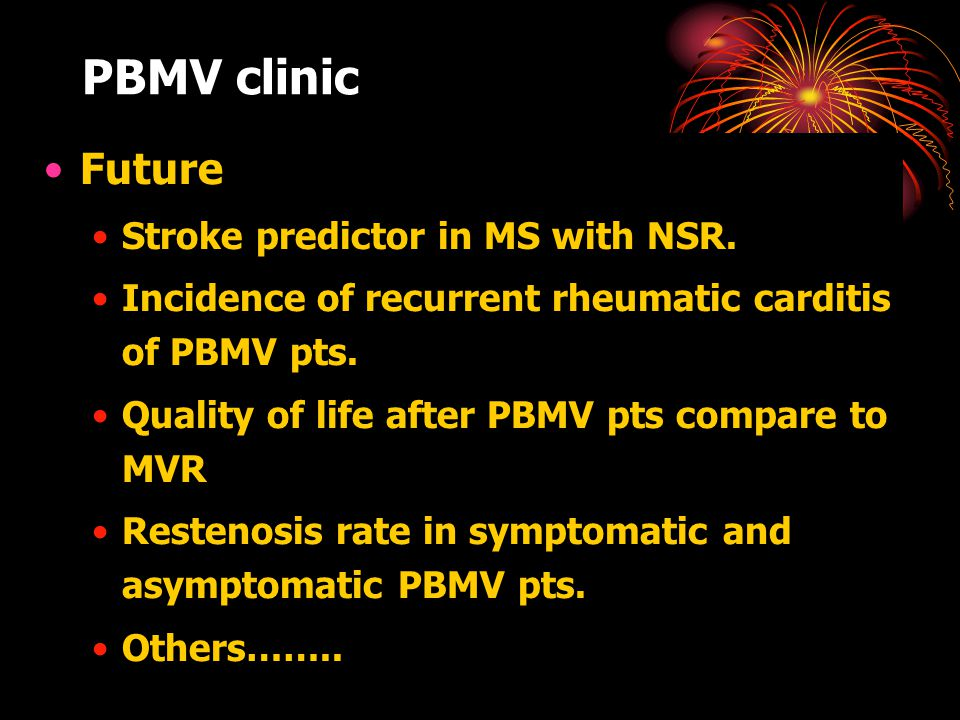 PBMV clinic Future Stroke predictor in MS with NSR.