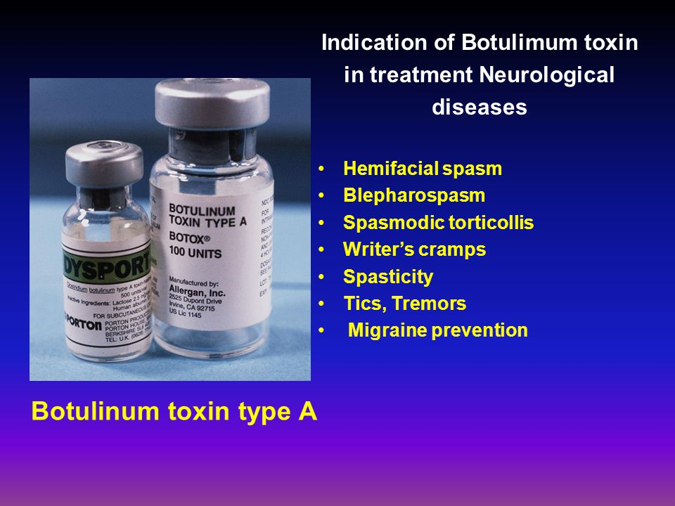Indication of Botulimum toxin in treatment Neurological