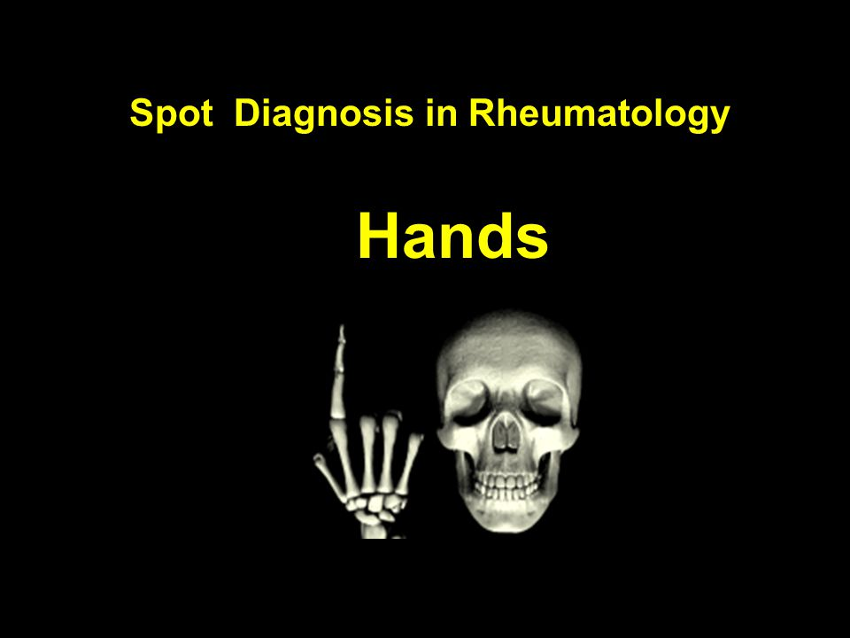 Spot Diagnosis in Rheumatology