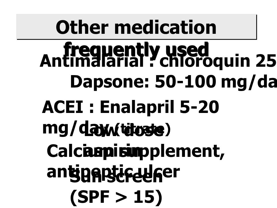 Other medication frequently used