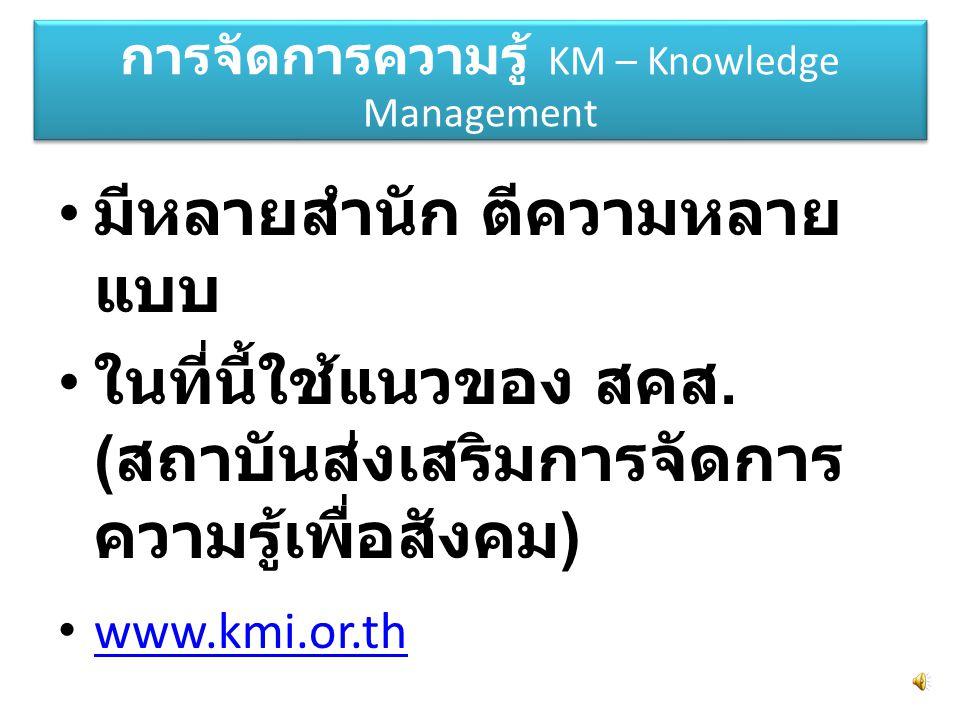 การจัดการความรู้ KM – Knowledge Management