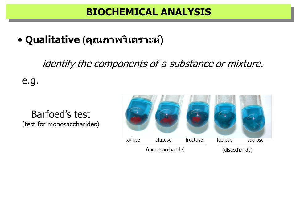 (test for monosaccharides)