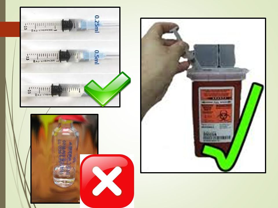 - Syringes should be capped when not in use.