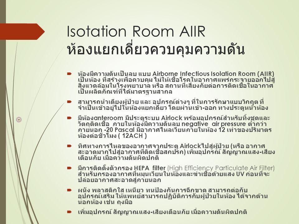 Isotation Room AIIR ห้องแยกเดี่ยวควบคุมความดัน