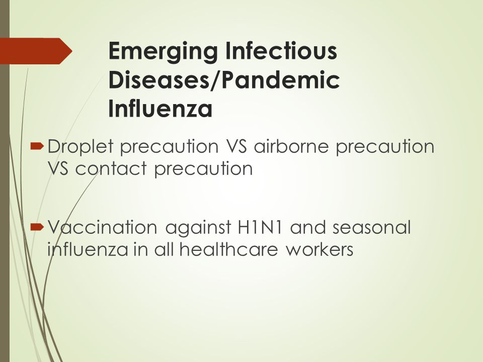 Emerging Infectious Diseases/Pandemic Influenza