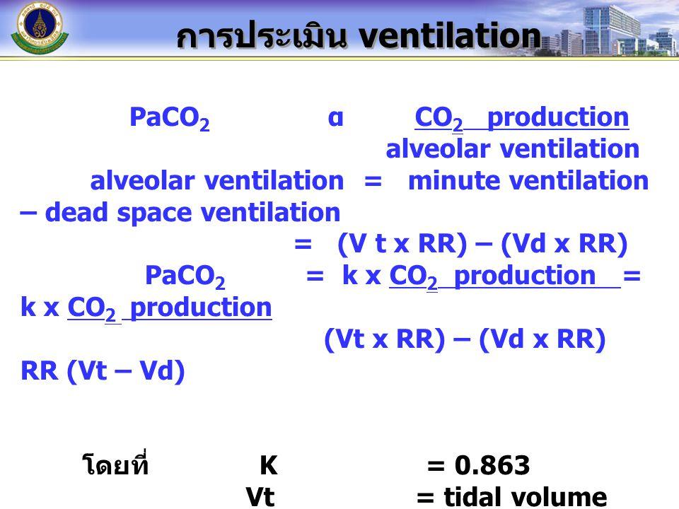 การประเมิน ventilation
