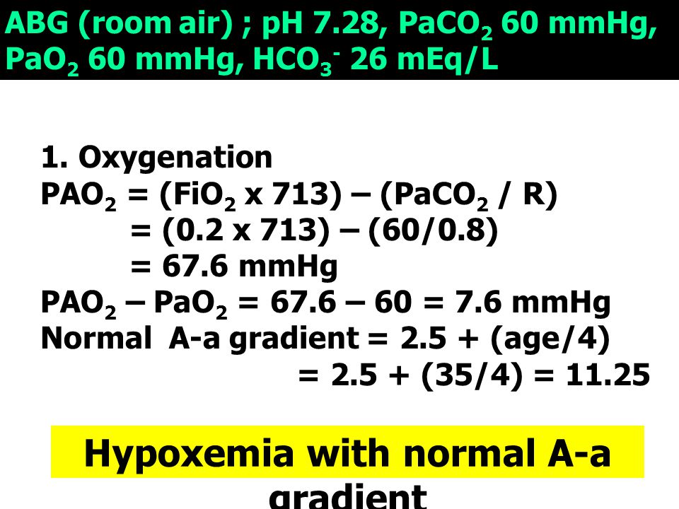 Hypoxemia with normal A-a gradient
