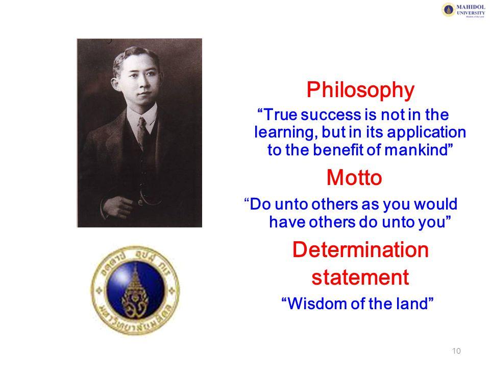 Determination statement