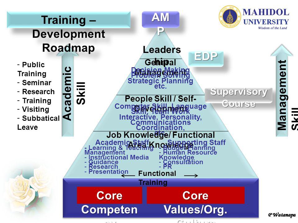 Training – Development Roadmap