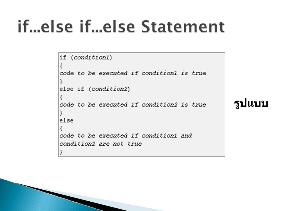if...else if...else Statement