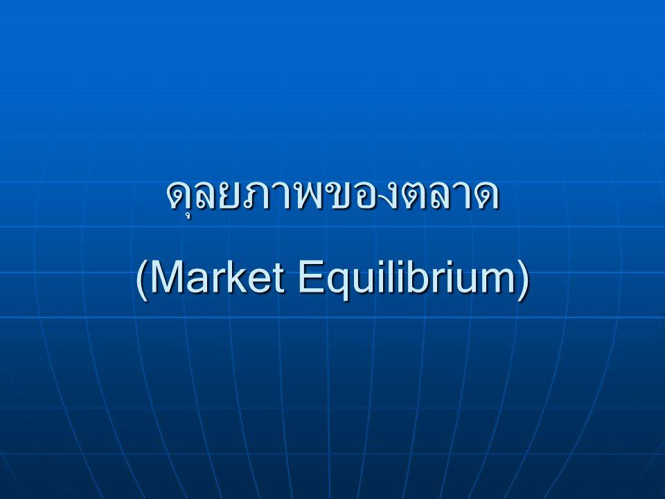 ดุลยภาพของตลาด (Market Equilibrium)