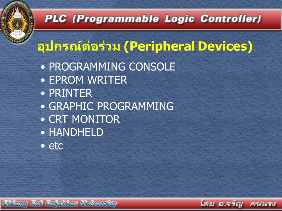 อุปกรณ์ต่อร่วม (Peripheral Devices)