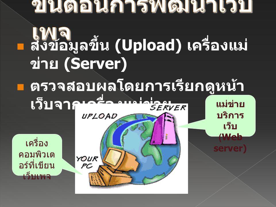 แม่ข่ายบริการเว็บ (Web server)
