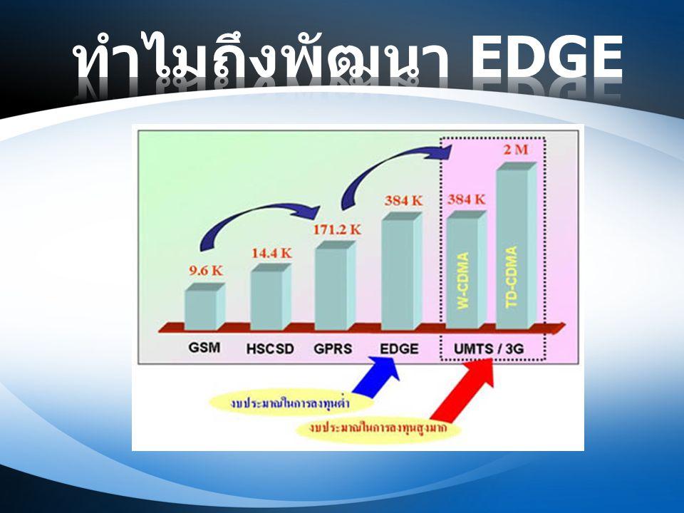 ทำไมถึงพัฒนา EDGE