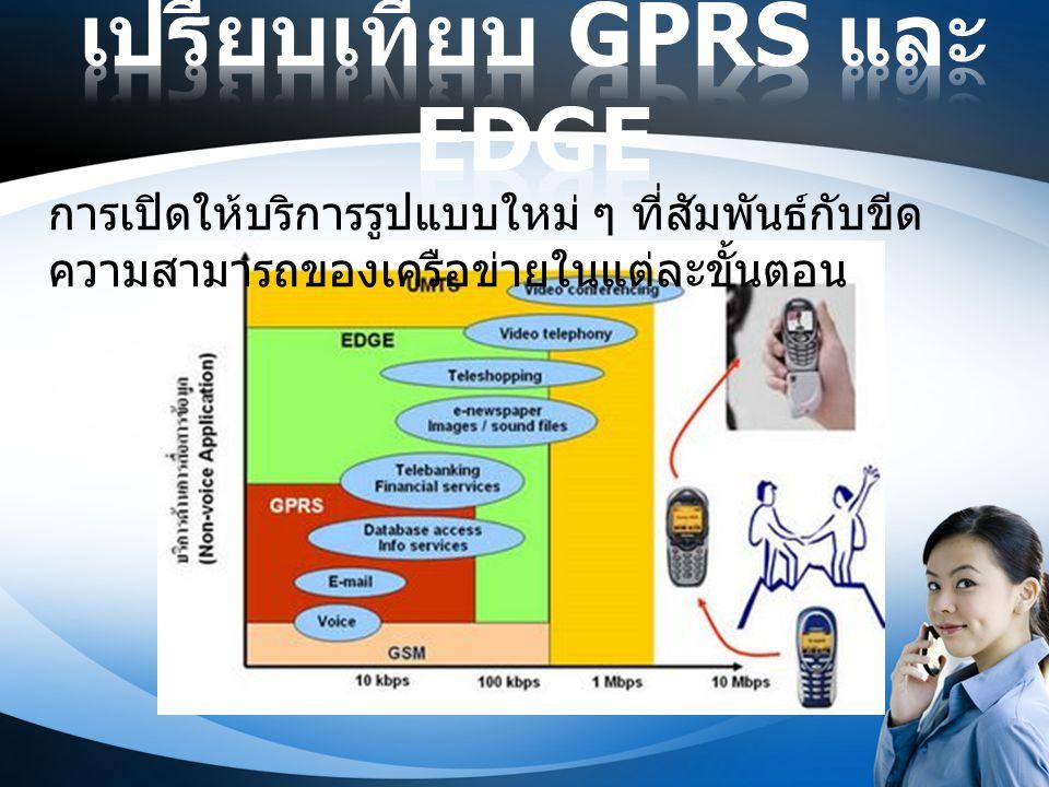 เปรียบเทียบ GPRS และ EDGE