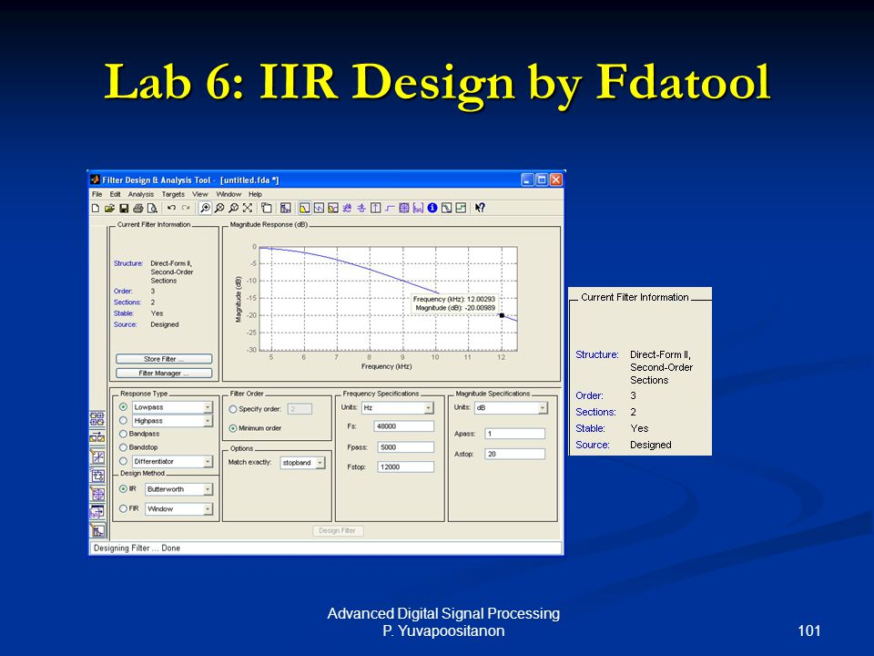 Lab 6: IIR Design by Fdatool