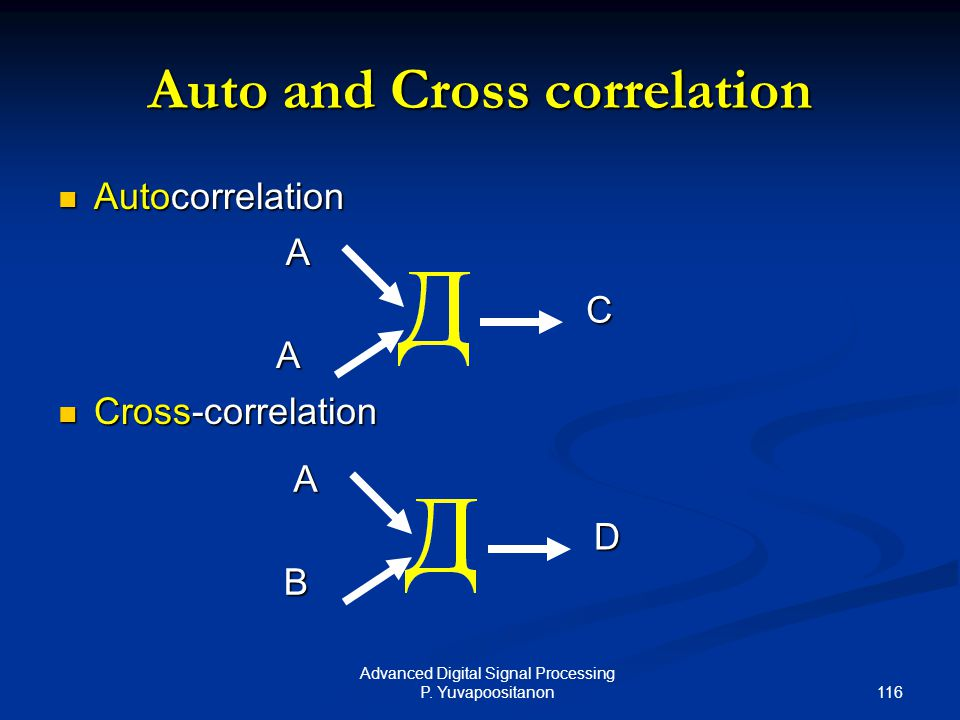Auto and Cross correlation