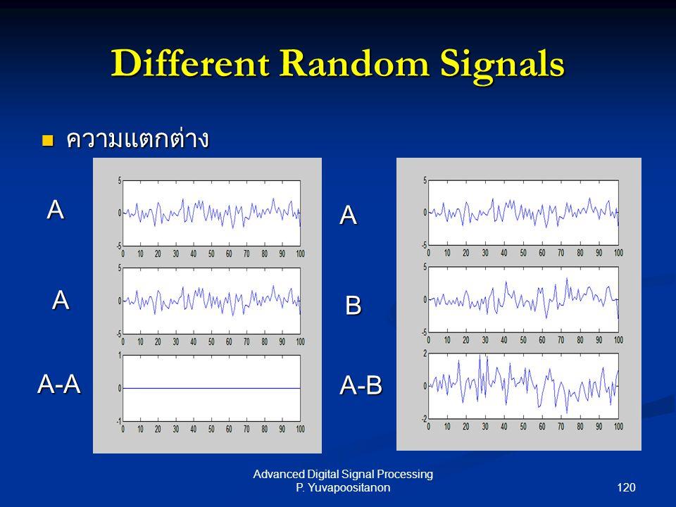 Different Random Signals