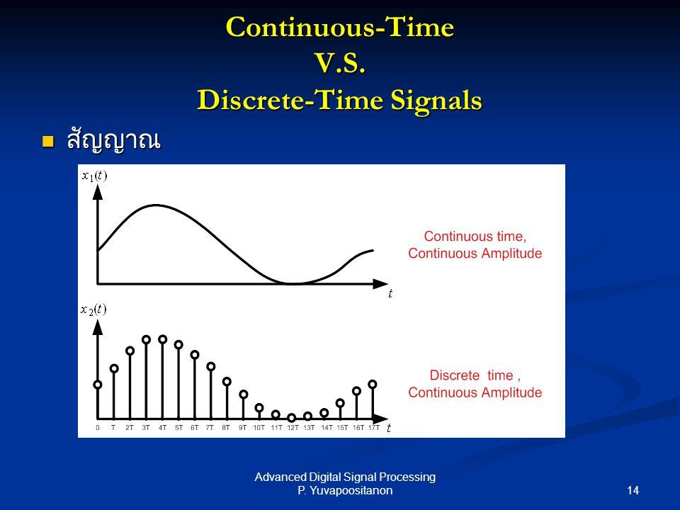 Continuous-Time V.S. Discrete-Time Signals