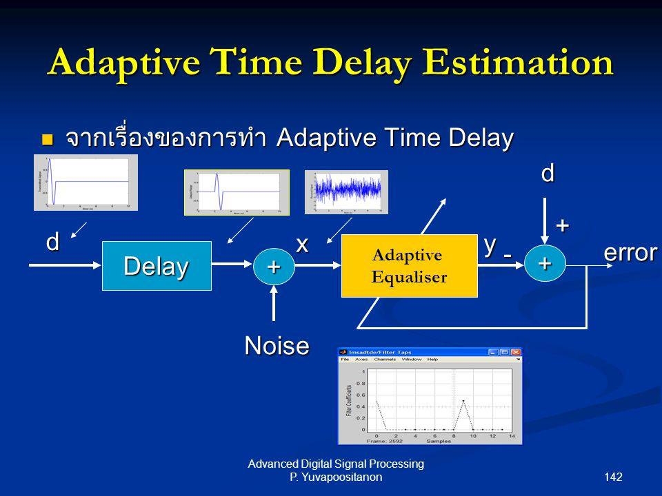 Adaptive Time Delay Estimation