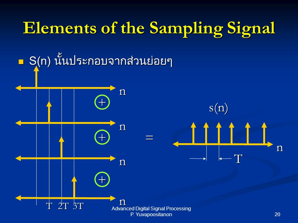 Elements of the Sampling Signal