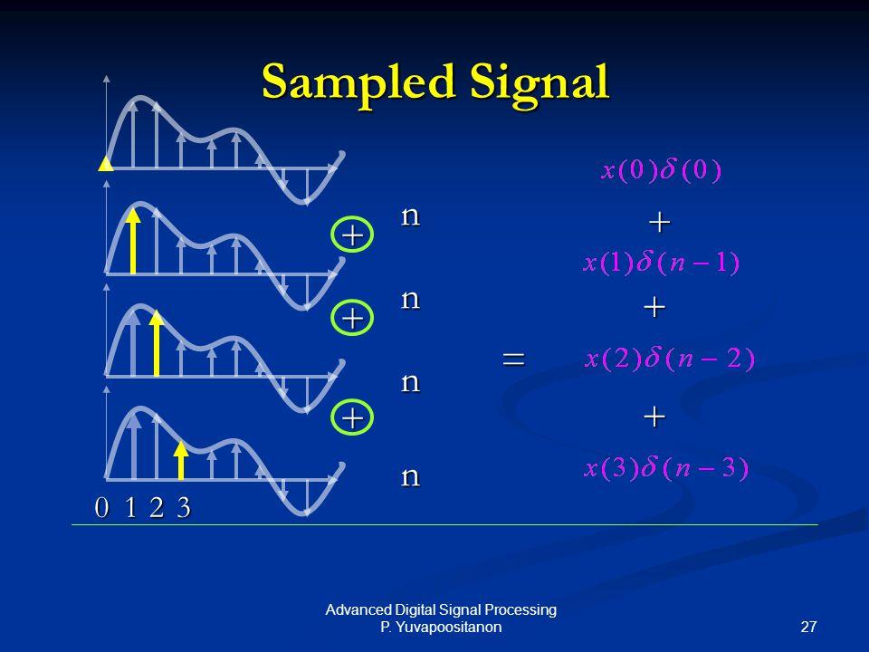 Advanced Digital Signal Processing