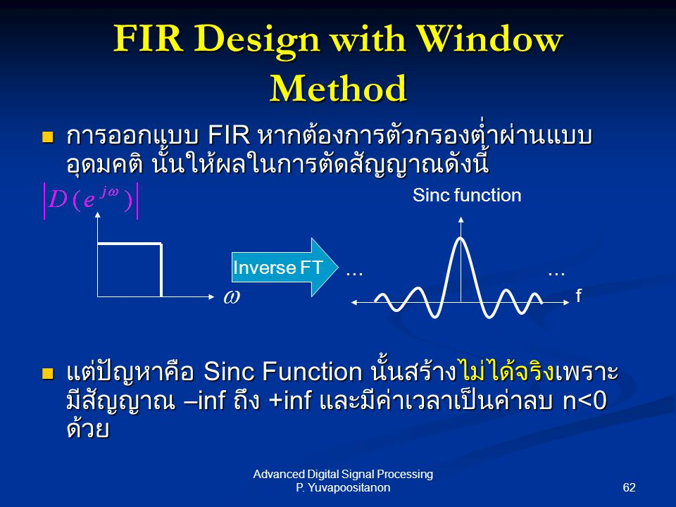 FIR Design with Window Method