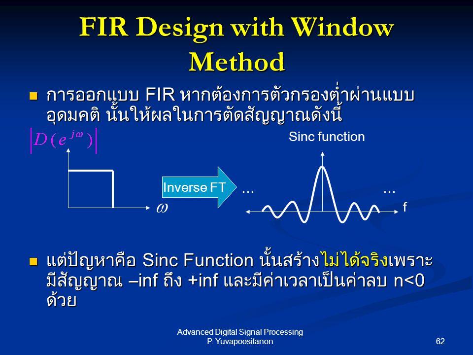 FIR Design with Window Method
