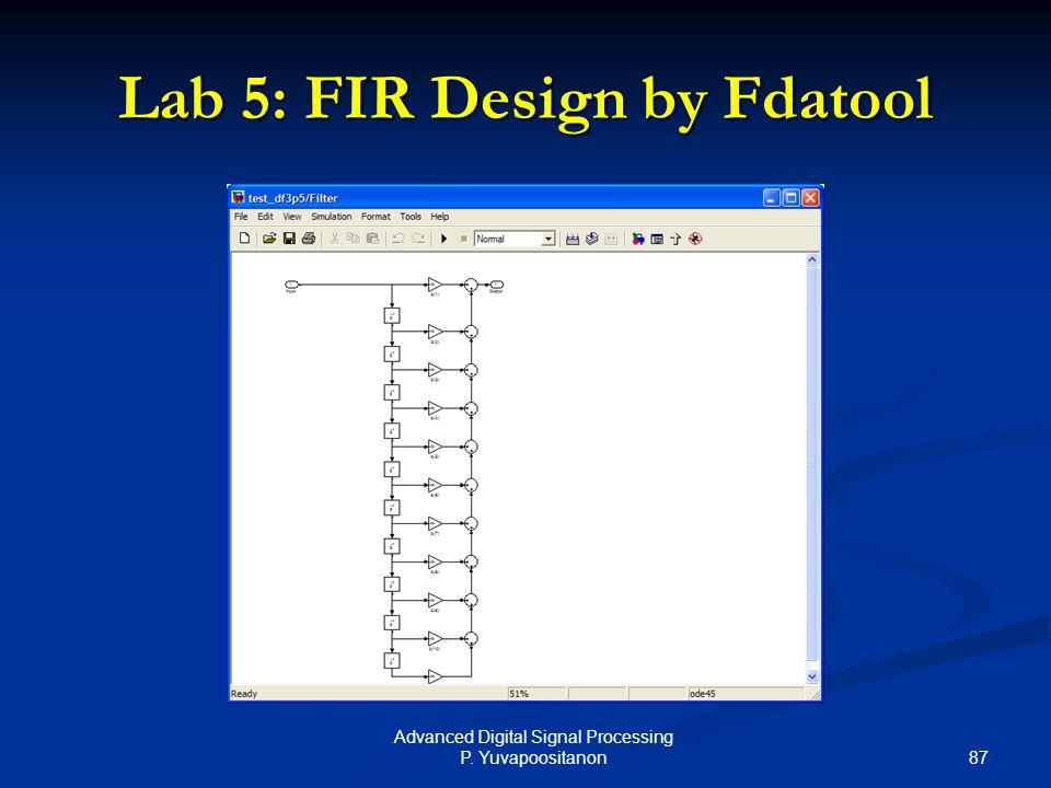 Lab 5: FIR Design by Fdatool