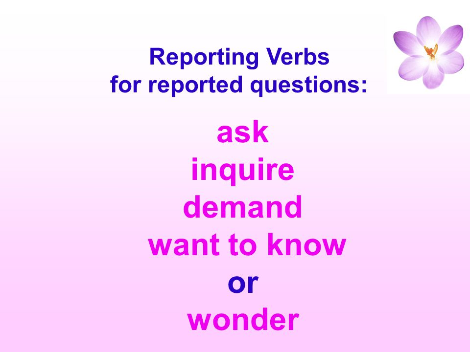 for reported questions: