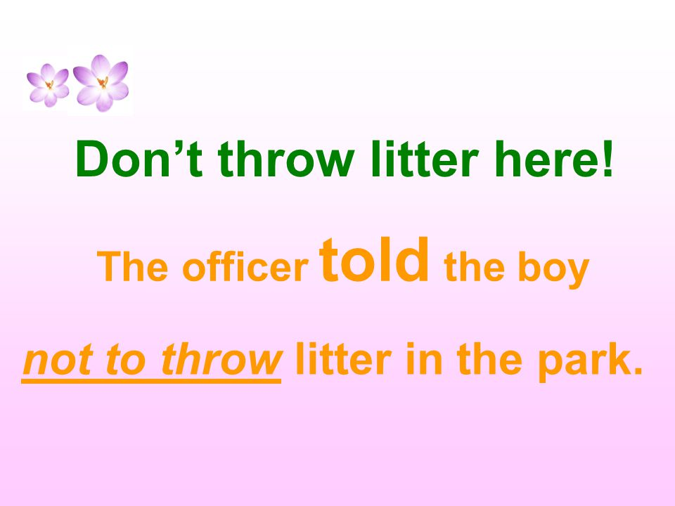 Don't throw litter here!